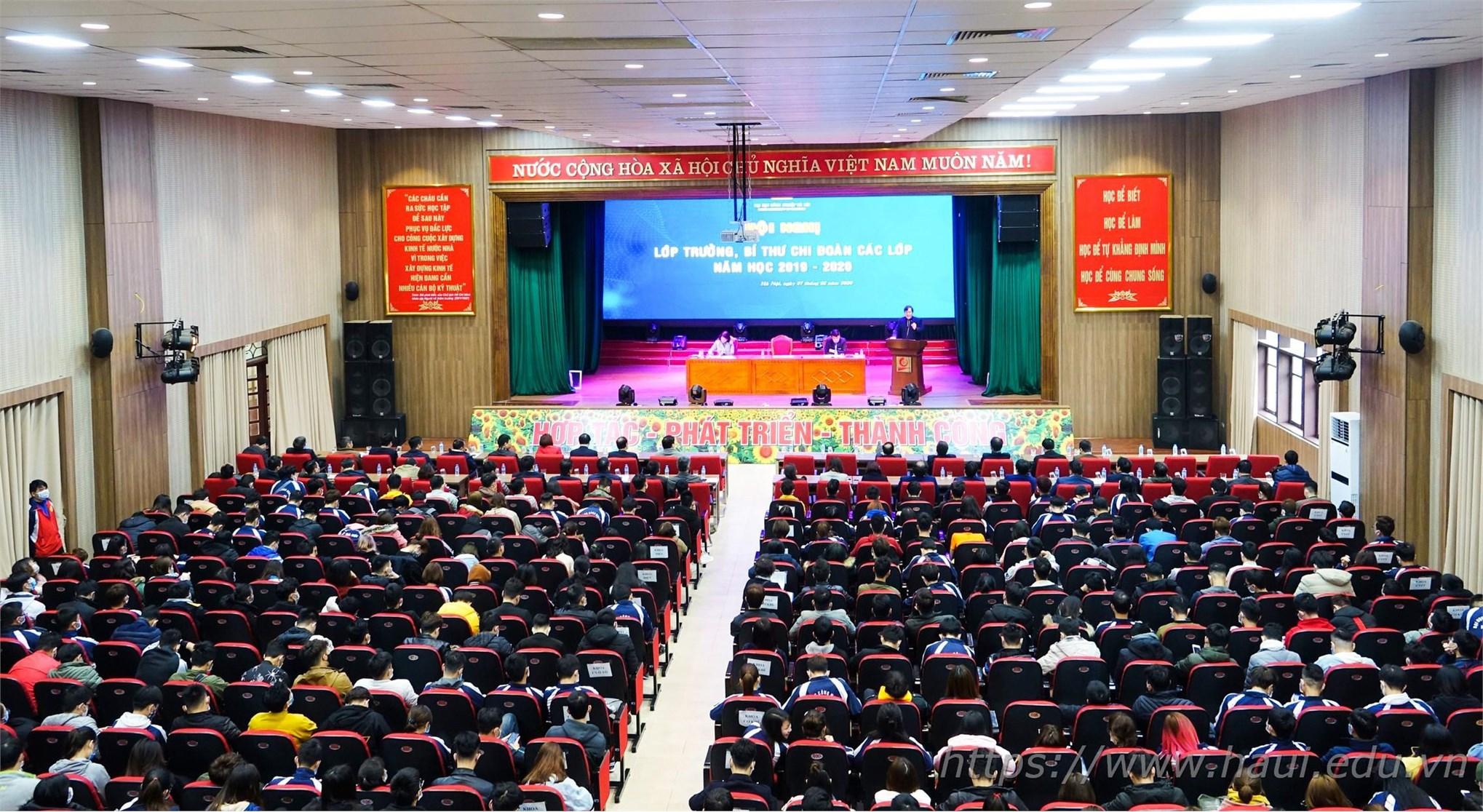 Hội nghị Lớp trưởng, Bí thư Chi đoàn năm học 2019 - 2020