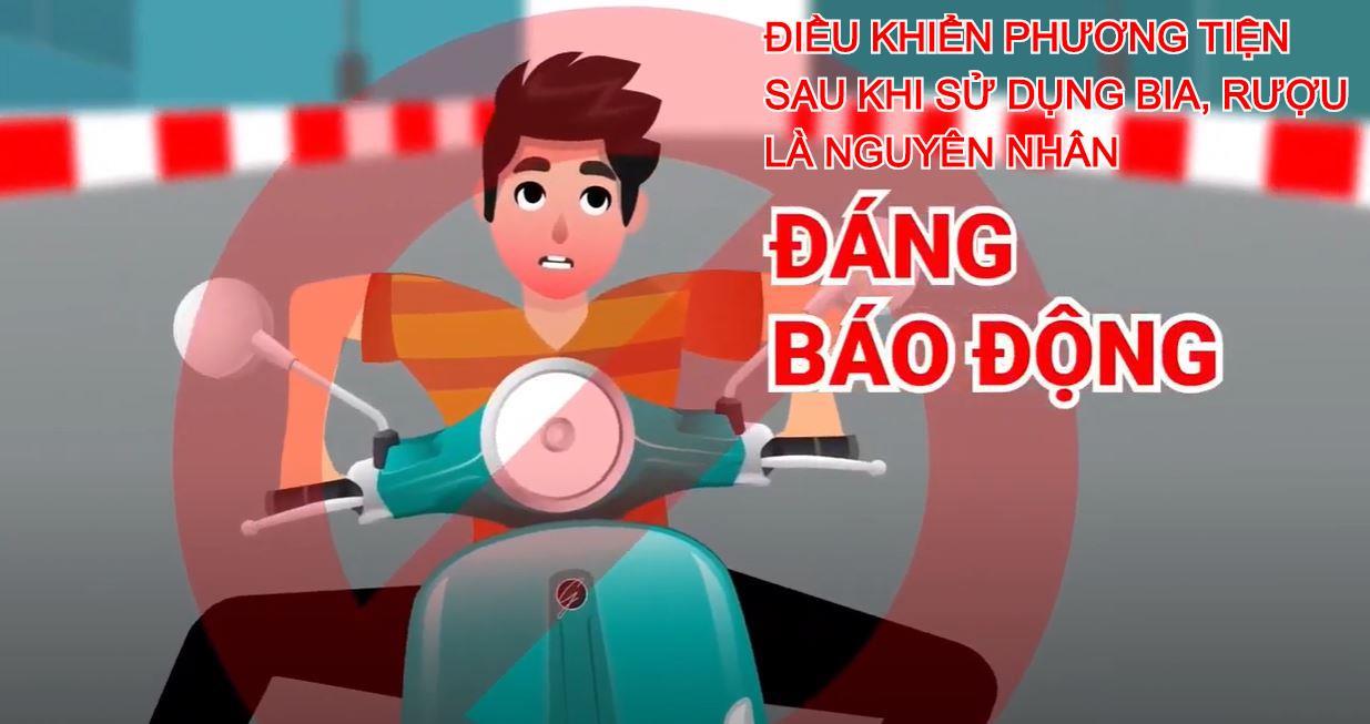 An toàn giao thông là hạnh phúc của mọi nhà: Không điều khiển phương tiện sau khi sử dụng bia rượu