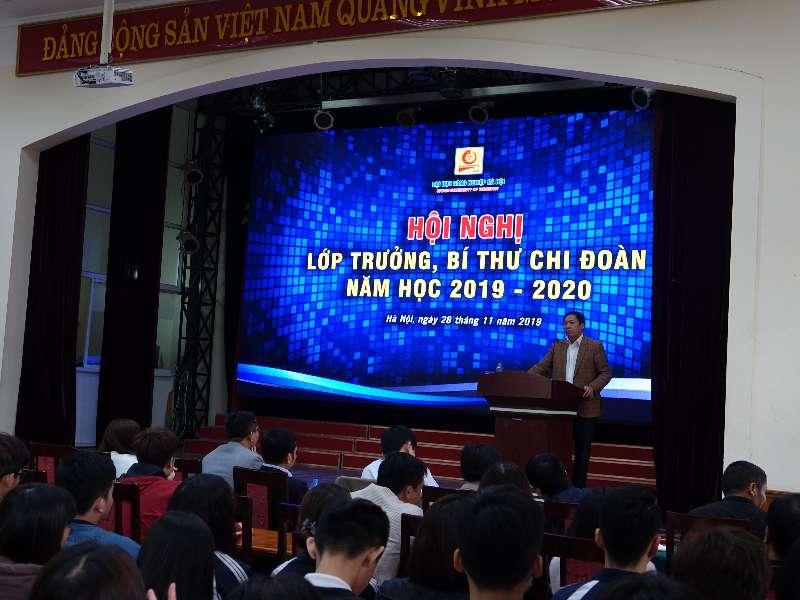 Hội nghị Lớp trưởng, Bí thư Chi đoàn các lớp tại Hà Nội năm học 2019 – 2020: Lắng nghe và giải đáp 37 ý kiến của sinh viên